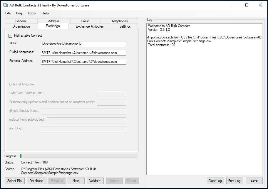 Active Directory Contact Import - AD Bulk Contacts